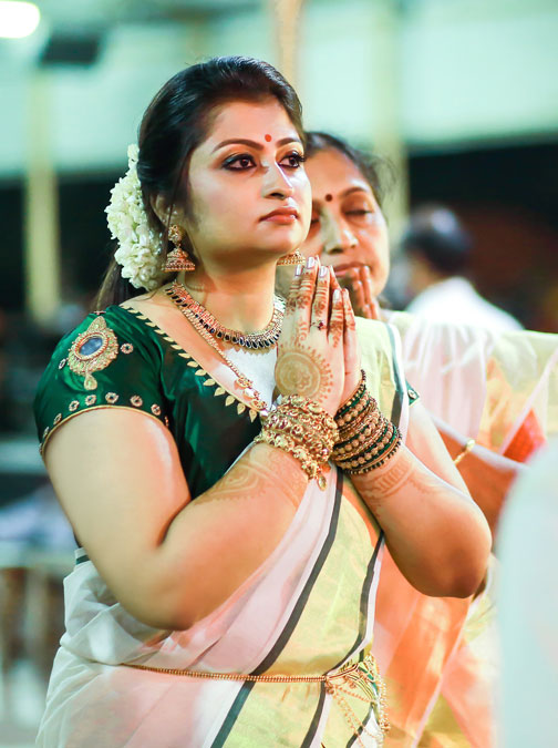 Bride Praying