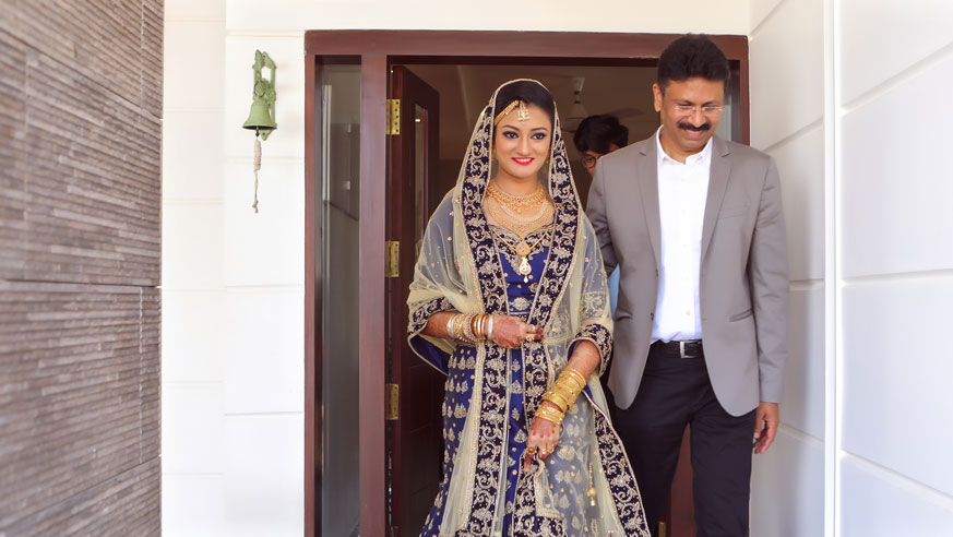 Muslim Bride with Father