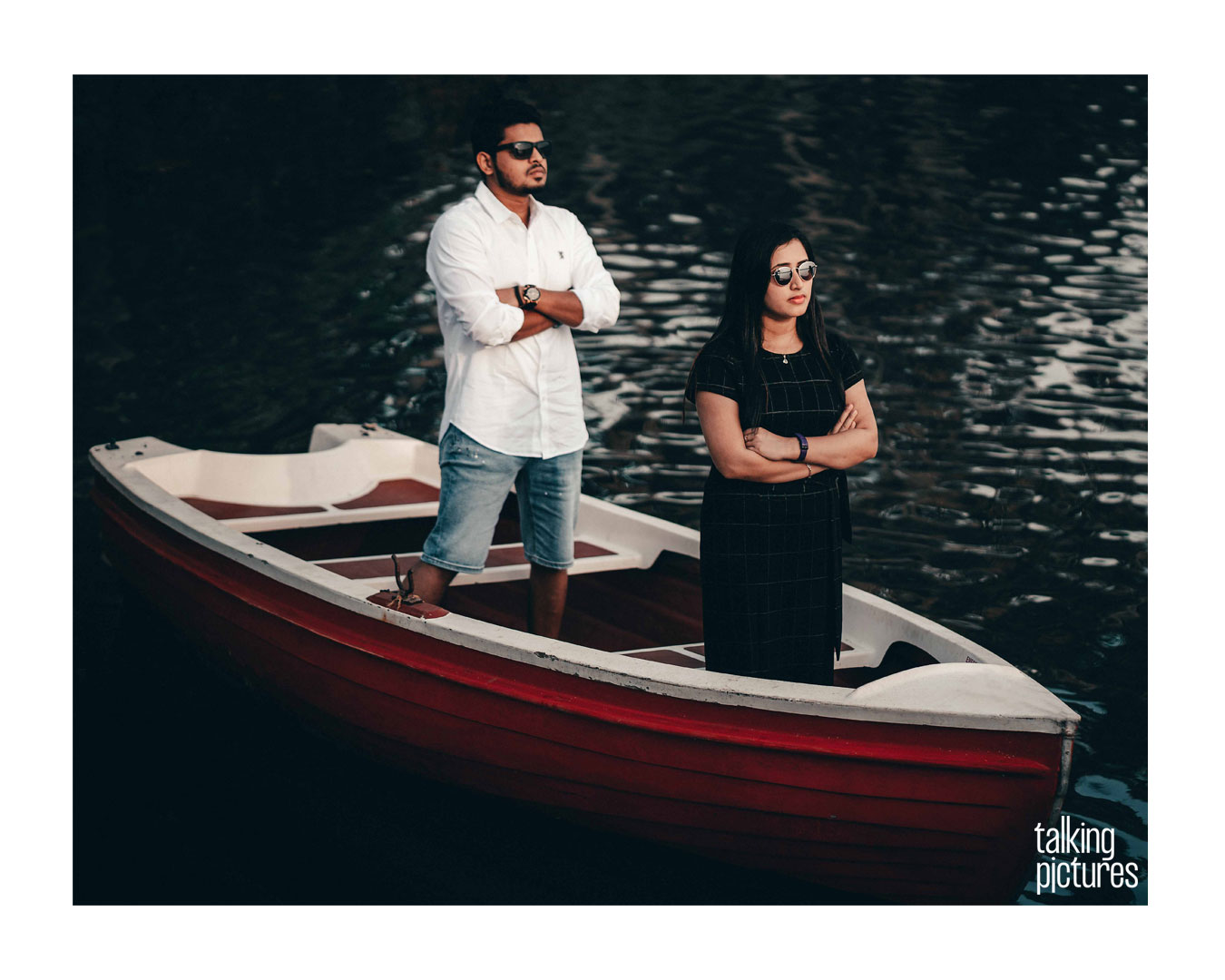 Boat Couple Standing